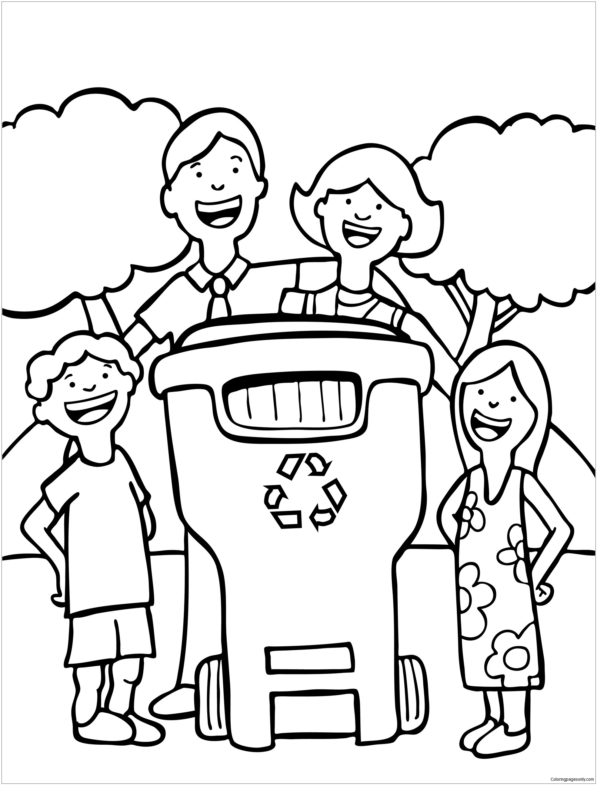 1970x2593 Recycle In Recycling Coloring Page Free Pages Online Beautiful
