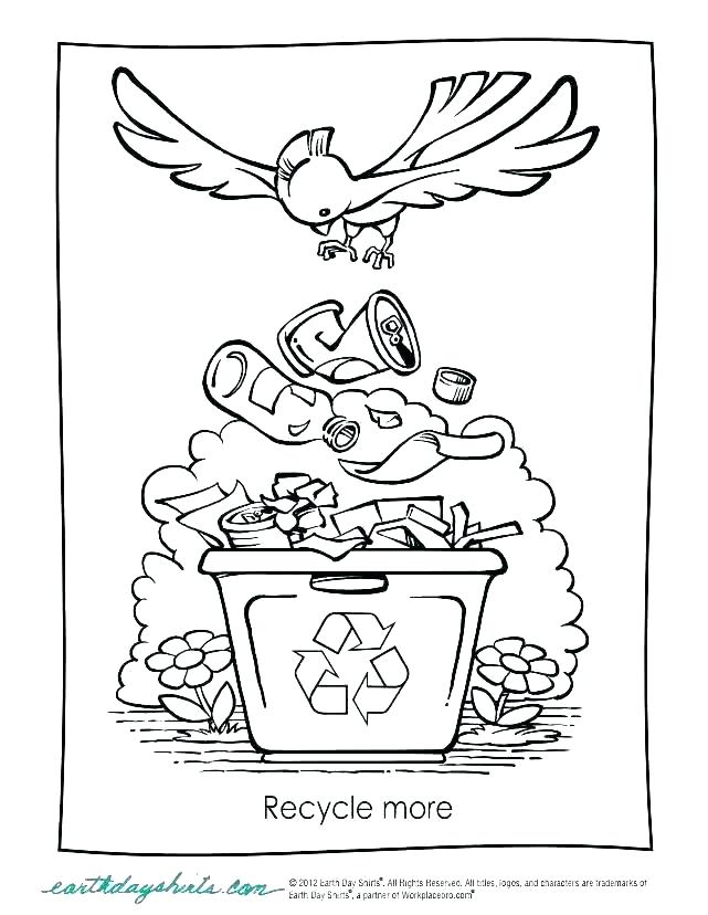 641x828 Recycling Coloring Page Recycle Bin Colouring Pages