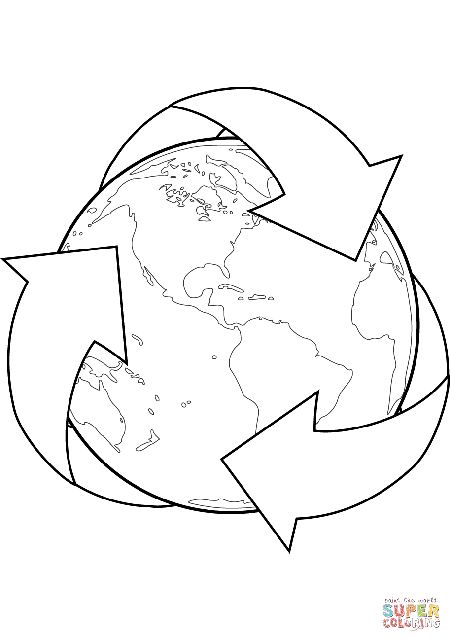 915x1300 Recycling Coloring Pages Az Beauteous Recycle