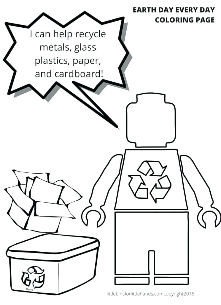 745x1024 Recycling Coloring Pages Mala Recycle Bin Colouring Pages