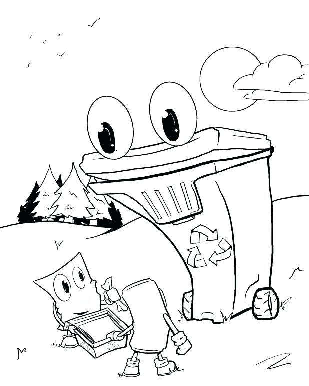 618x773 Recycling Coloring Pages Recycling Coloring Page Recycle Coloring