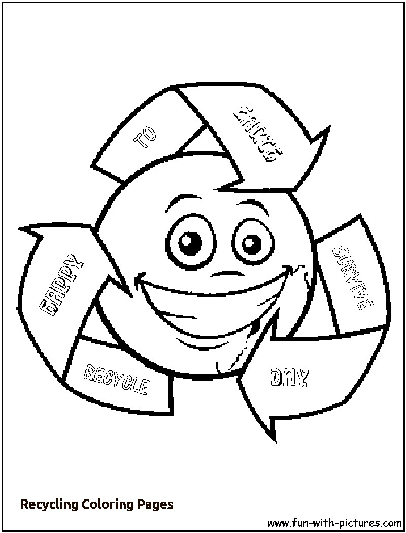 800x1050 Recycling Coloring Pages With Boys And Trash Free Recycle Symbol