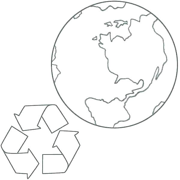 600x600 This Coloring Page For Kids Features A Recycling Bin Recycling
