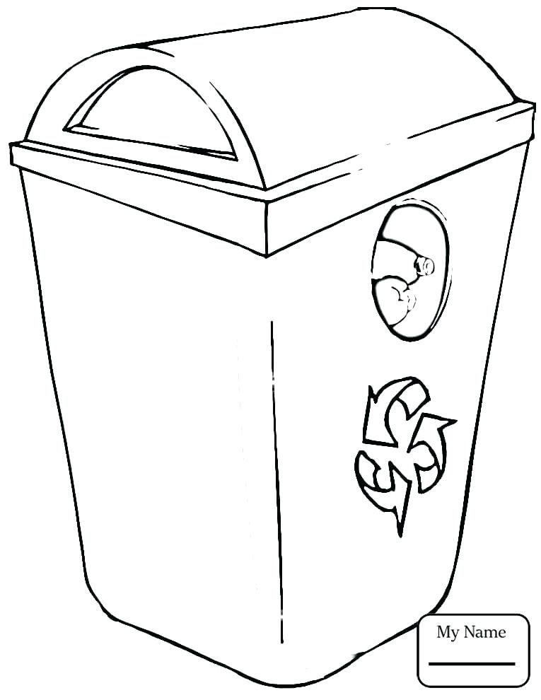 765x990 Paper Coloring Pages Coloring Pages For Kids Paper Recycling Bin