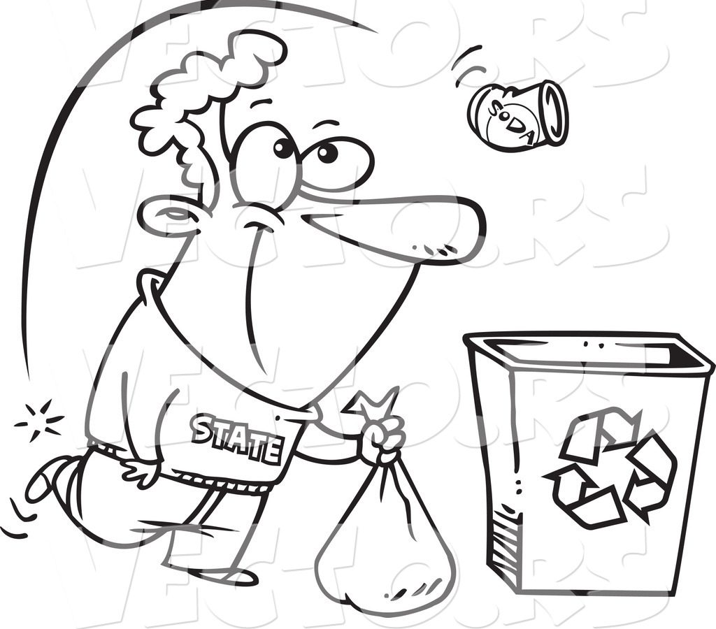 1024x900 Perfect Recycling Bin Coloring Pages Illustration