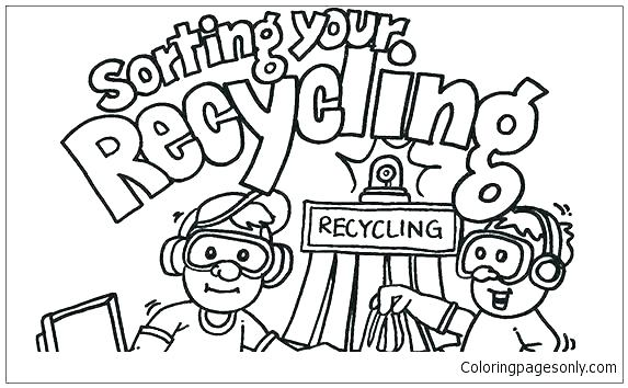 573x354 Recycling Coloring Page Recycling Coloring Page Recycling Coloring