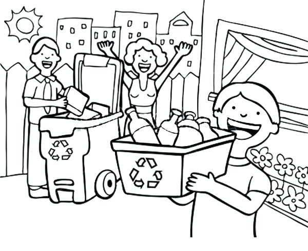 600x488 Recycling Coloring Page Recycling Coloring Pages Printable