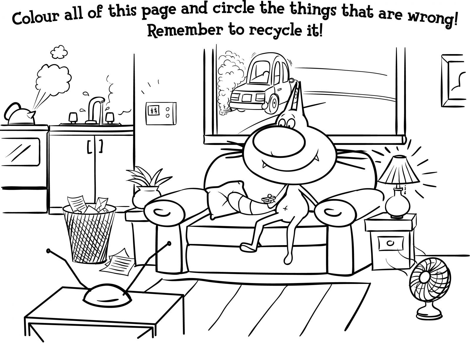 1600x1167 Special Recycling Coloring Pages Activity Colouring Natural