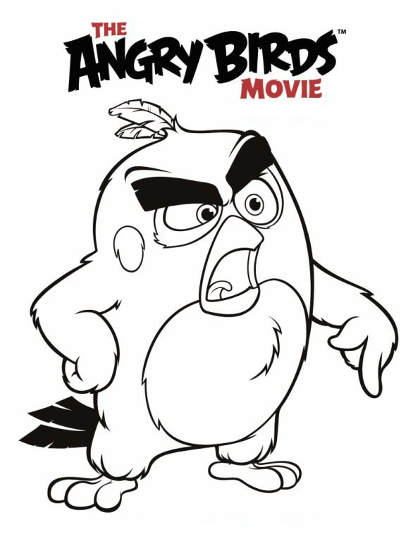 Red Angry Bird Coloring Page At Getdrawings Com Free For Personal