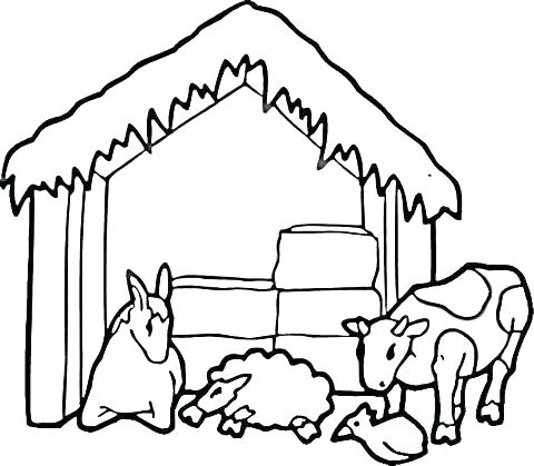 480x419 Barn Coloring Sheets Barn Coloring Pages Free