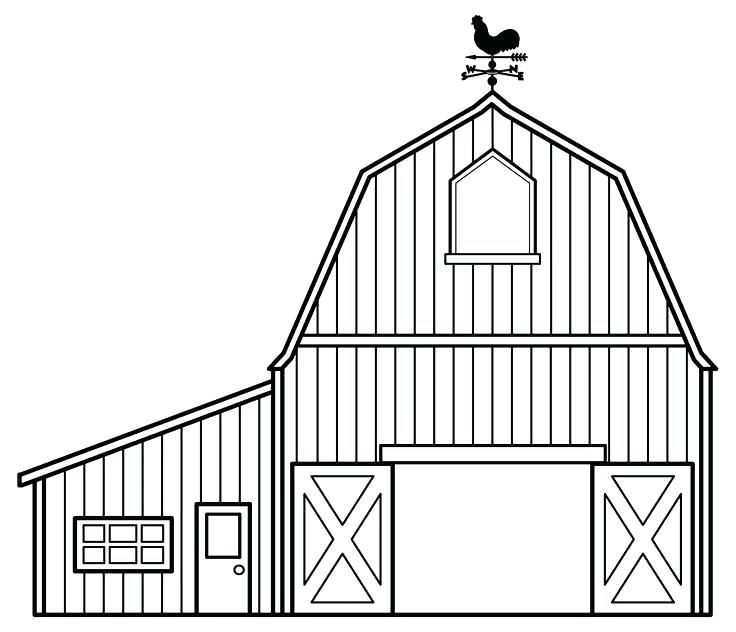 736x632 Barn Coloring Sheets Farm House Coloring Pages Pin Barn Web