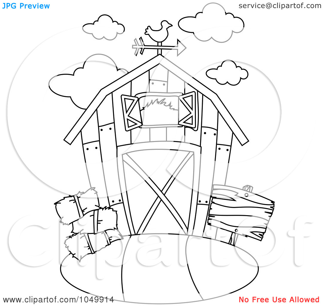 1080x1024 Barn Coloring Pages Download And Print For Free