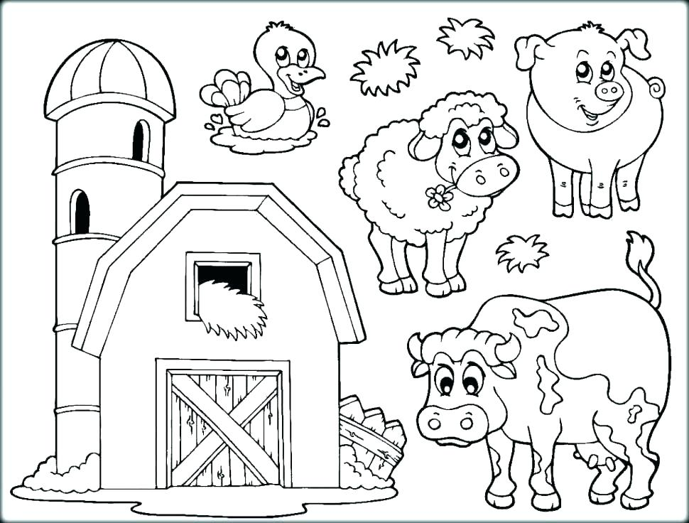970x736 Barnyard Coloring Pages Barnyard Animals Coloring Pages Kids