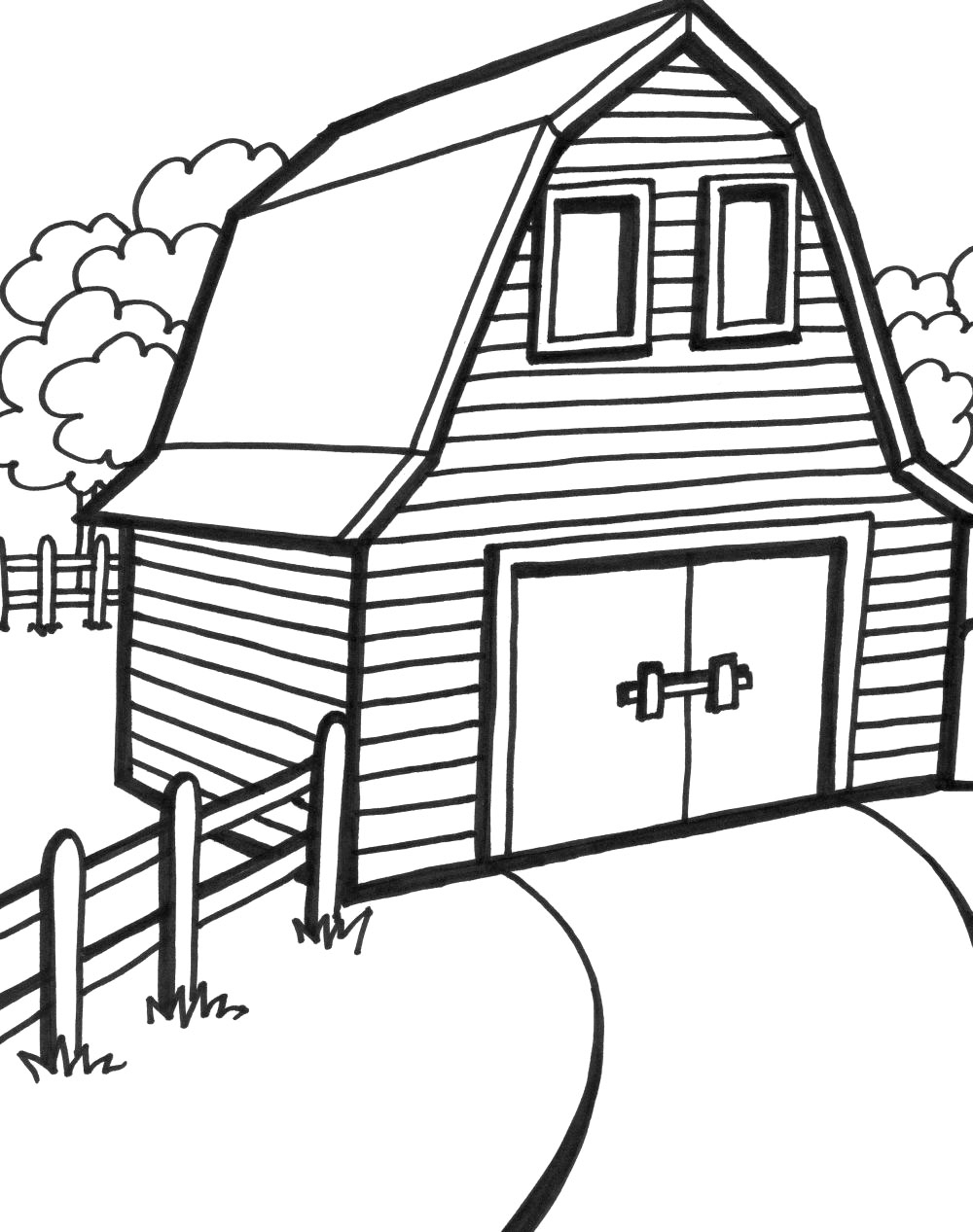 1000x1267 Coloring Page Barn Red Barn Coloring Page My Barn Coloring Page
