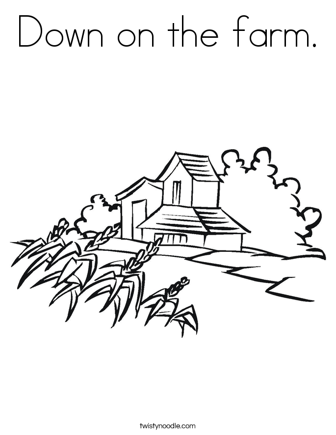 685x886 Down On The Farm Coloring Page