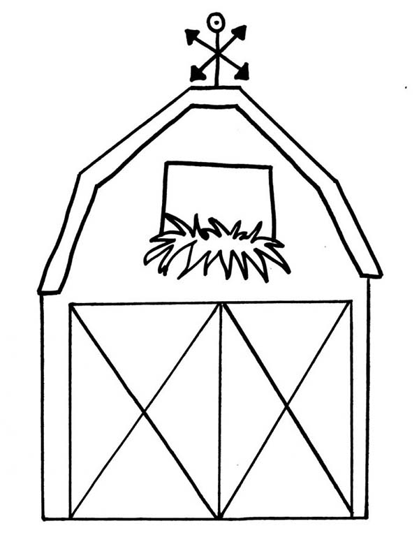600x776 How To Draw A Barn Coloring Page Color Luna