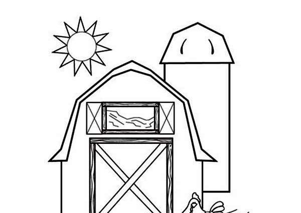 600x425 Red Barn Coloring Page The Barn Is Red Coloring Page Color Luna