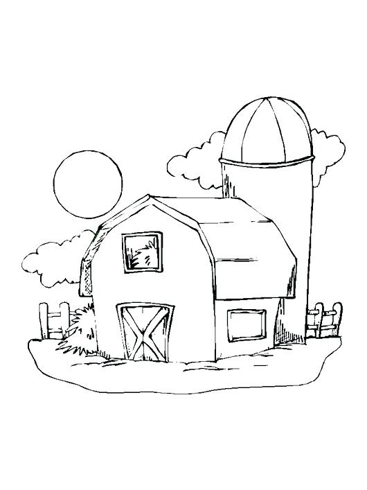 530x707 Barn Coloring Page Farm Barn Colouring Pages