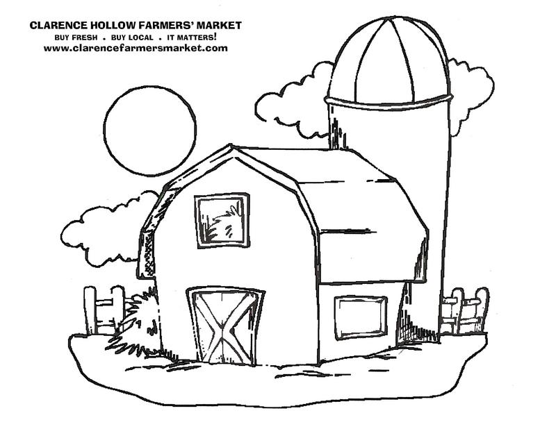 800x618 Barn Coloring Pages