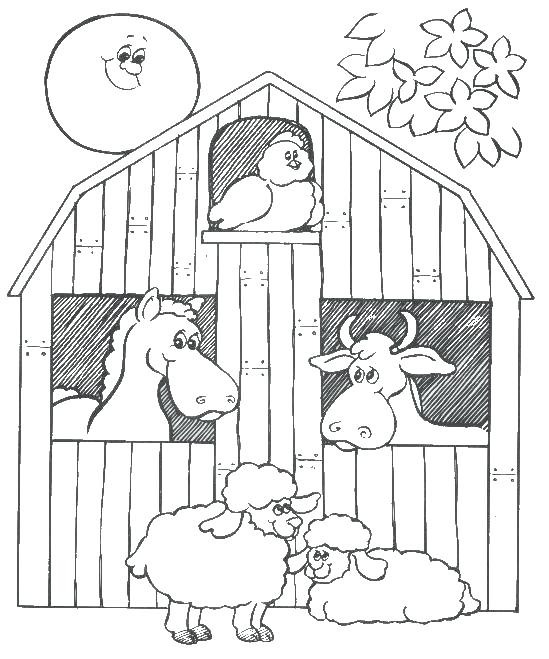 549x659 Barn Coloring Pages Barn Animals Colouring Pages Barn Owl Coloring