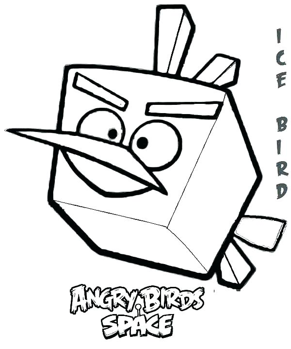 600x719 Angry Birds Coloring Page Angry Birds Coloring Pages Free Angry
