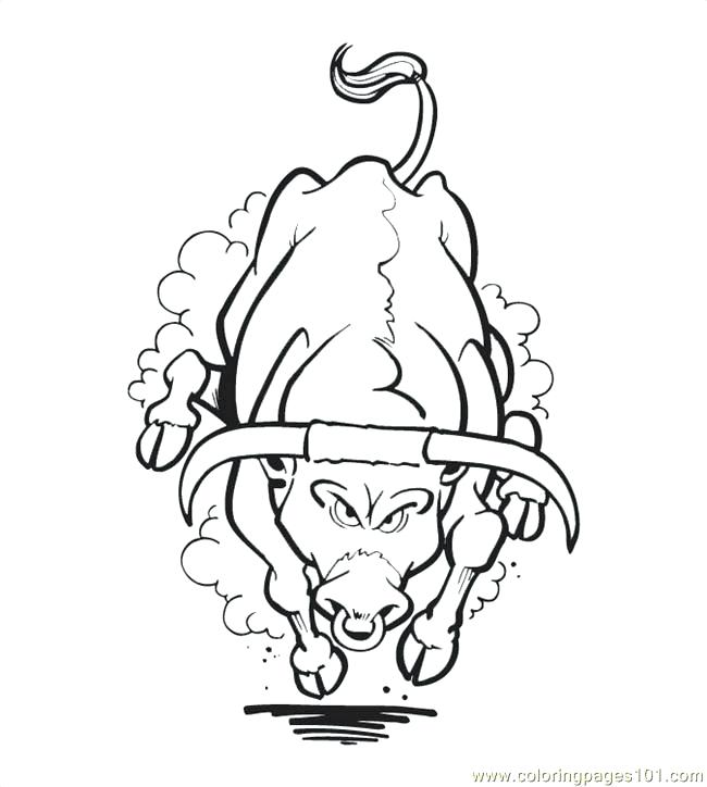 650x724 Bull Coloring Page Rodeo Coloring Pages Frosty Rodeo Clowns Free