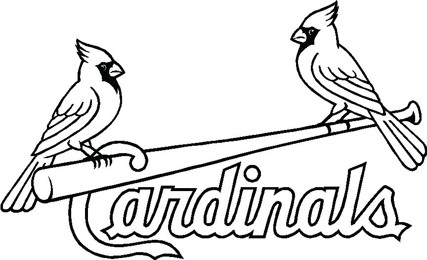 864x528 St Cardinals Logo Coloring Page Stencils St St Cardinals Logo