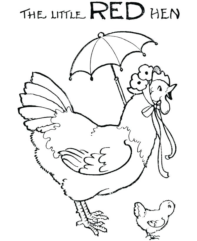 670x820 Red Coloring Pages Red Coloring Pages The Little Red Hen Coloring