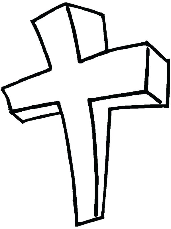 600x800 Coloring Pages Of A Cross Cross Color Page Printable Cross