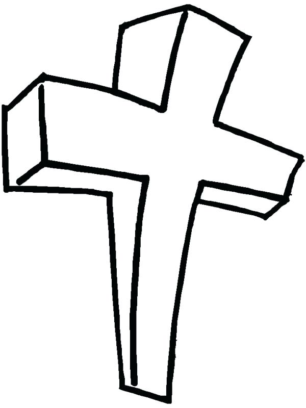 600x800 Cross Coloring Pages Wooden Cross Coloring Page Red Cross Coloring