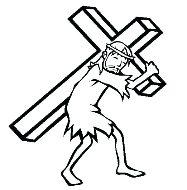 600x612 Red Cross Coloring Pages On The Page Good