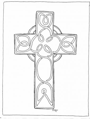 380x500 Coloring Page Coloring Pages Of Crosses Coloring Pages Jesus