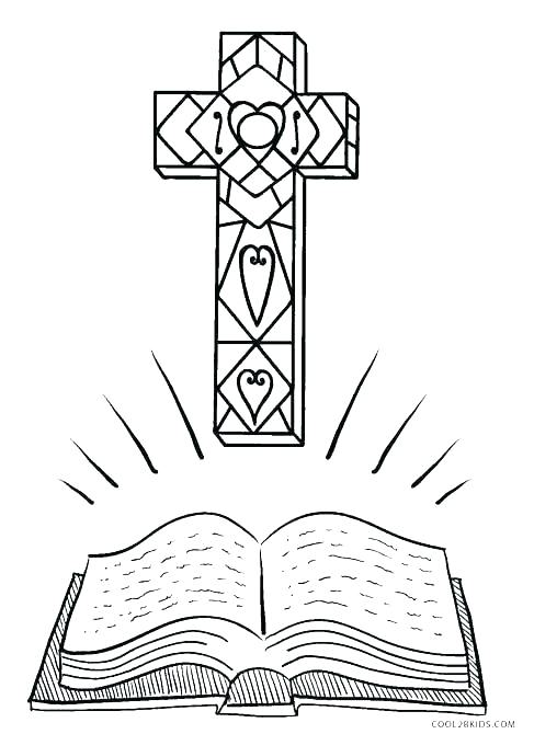 487x670 Cross Coloring Page