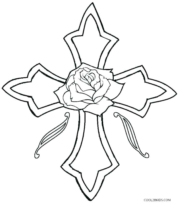 743x850 Coloring Page Cross Cross Coloring Pages Coloring Page Crossing