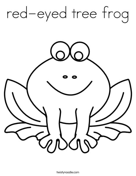 468x605 Red Eyed Tree Frog Coloring Page