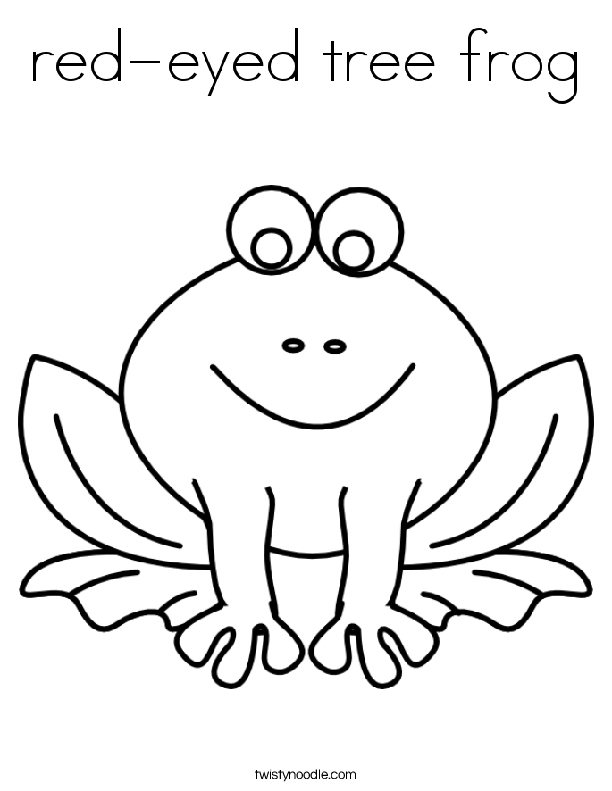 685x886 Red Eyed Tree Frog Coloring Page