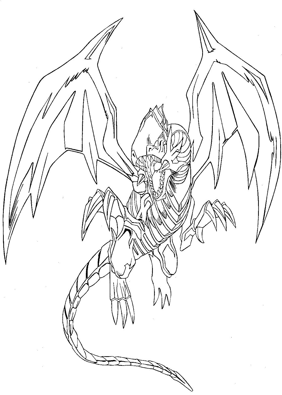 1120x1568 Red Eyes Black Dragon Par Coloring Pages