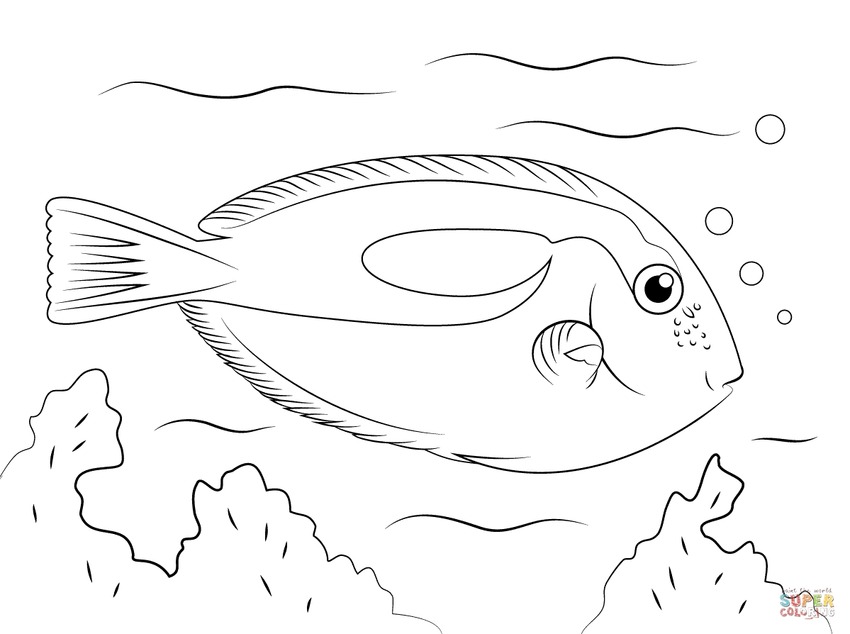 1199x894 Unique One Fish Two Fish Red Fish Blue Fish Coloring Pages