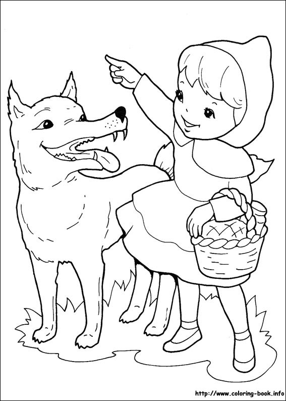 567x794 Little Red Riding Hood Coloring Pages Printable