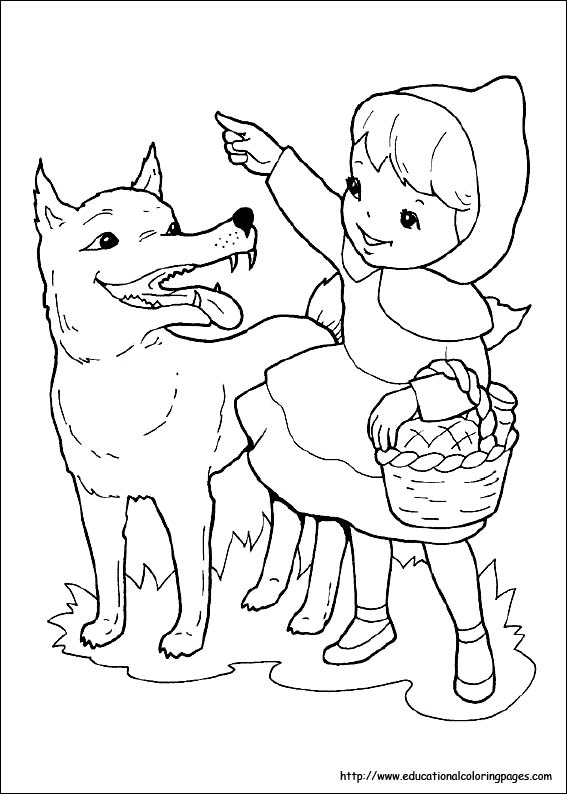 567x794 Little Red Riding Hood Coloring Pages Free For Kids