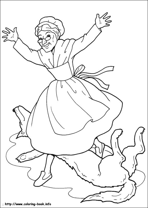 567x794 Little Red Riding Hood Coloring Pages On Coloring