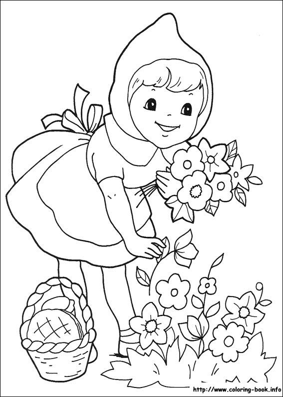 567x794 Little Red Riding Hood Coloring Picture Book Red