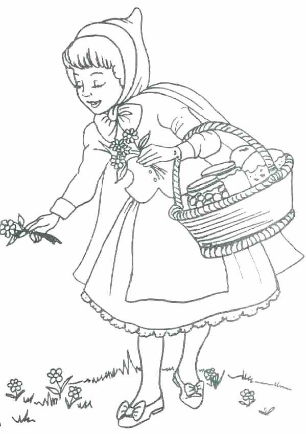 599x848 Red Riding Hood Coloring Pages Little Red Riding Hood Coloring
