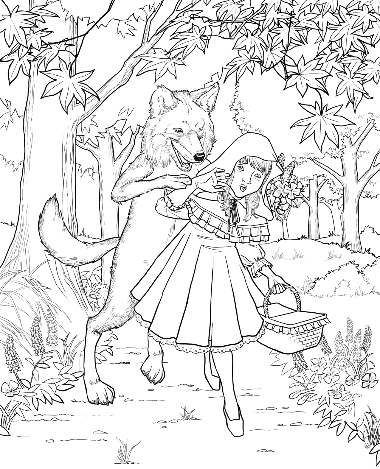 1275x1575 Unparalleled Little Red Riding Hood Coloring Book Pages