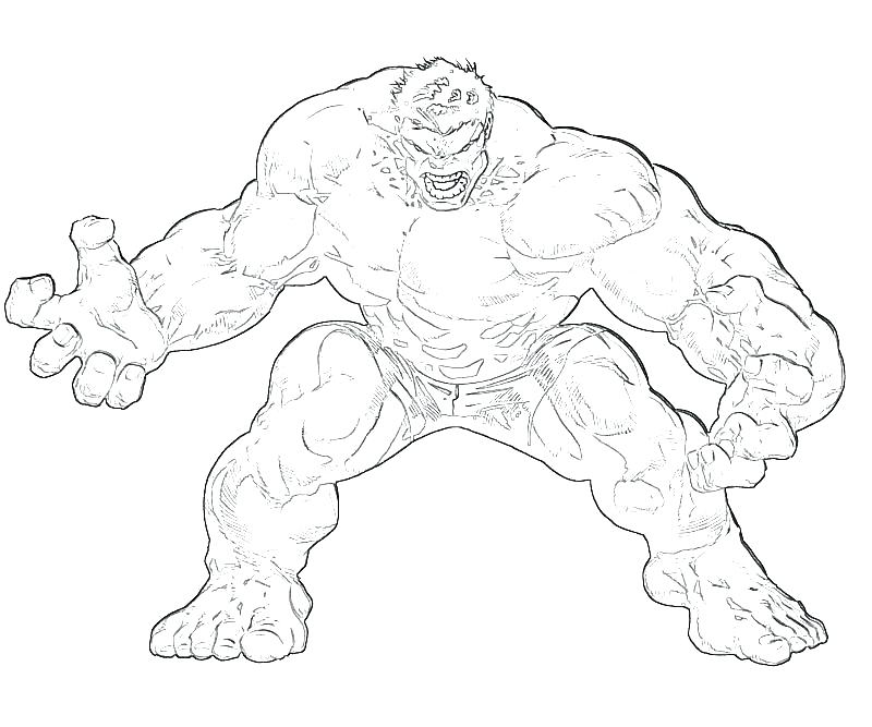 Red Hulk Coloring Pages At Getdrawings Com Free For Personal Use