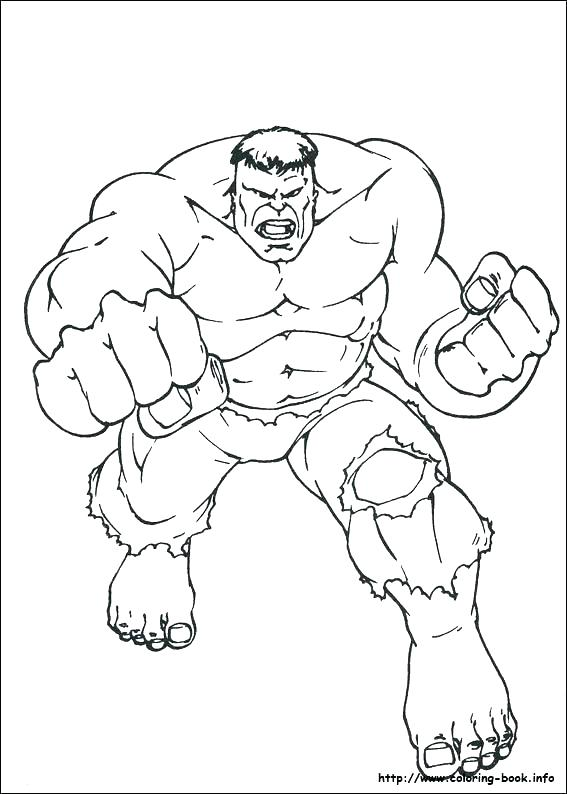 567x794 Red Hulk Coloring Pages