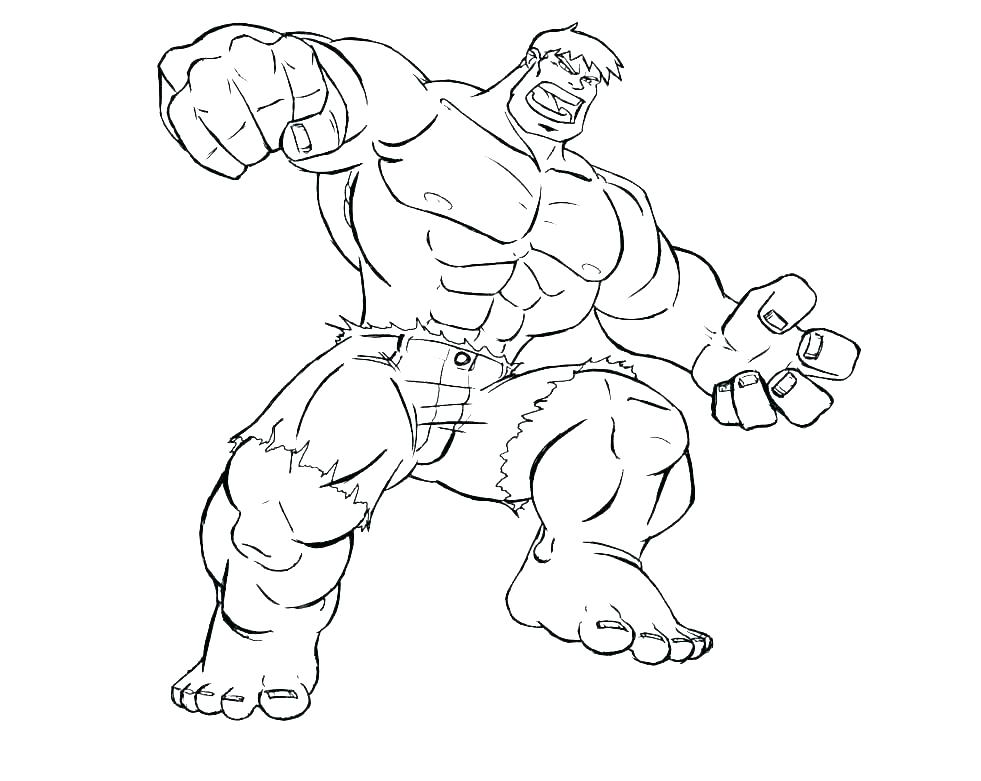 981x781 Red Hulk Coloring Pages