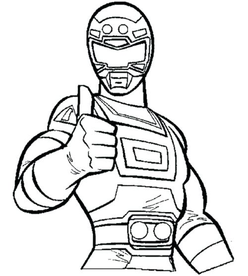 500x557 Turbo Coloring Pages Red Turbo Ranger Coloring Pages Power Ranger
