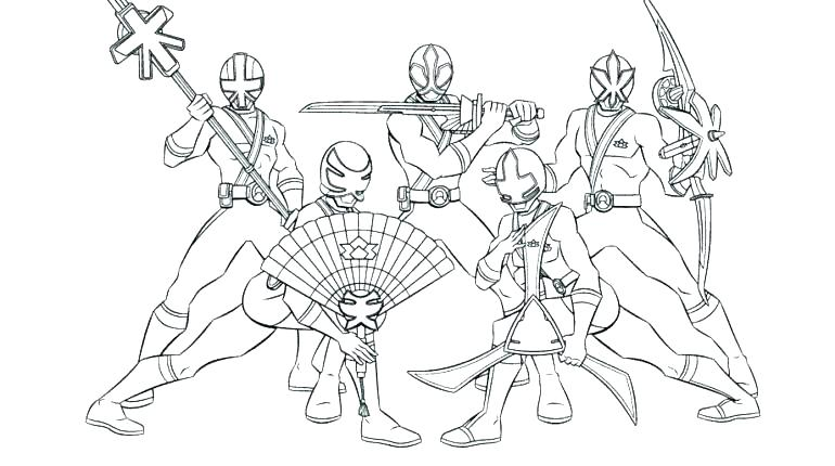 Red Ranger Coloring Page