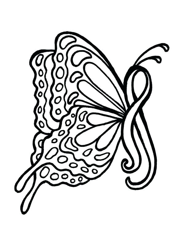 606x768 Red Ribbon Coloring Pages Printable Breast Cancer Ribbon Coloring